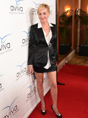 Sharon Stone on May 31, in Beverly Hills, Calif.
