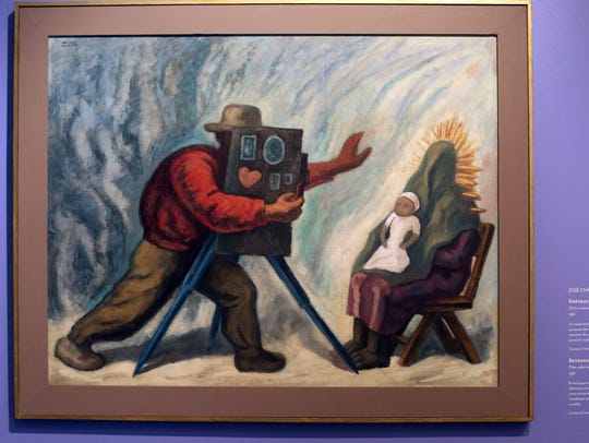 """Portraying the Nation"" a 1961 painting by Jose Chavez"