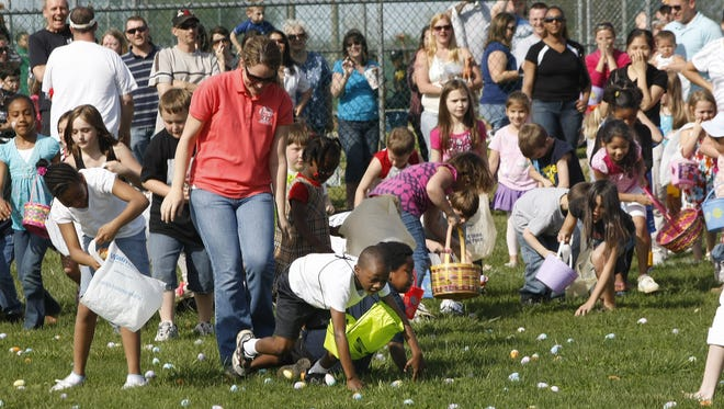 This weekend, Clarksville kids will have several opportunities to meet the Easter Bunny, and hunt for their share of brightly colored eggs, at events throughout the city. Photo/The Leaf-Chronicle