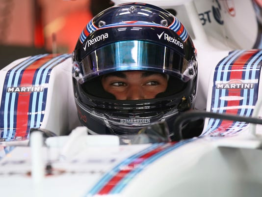 Williams driver Lance Stroll of Canada sits in his car cockpit during the second practice session for the Austrian Formula One Grand Prix at the Red Bull Ring in Spielberg, Austria, Friday, July 7, 2017. The Austrian Grand Prix will be held on Sunday. (AP Photo/Ronald Zak)