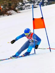 Catholic Central's Sawyer Reed was a state qualifier in the slalom.