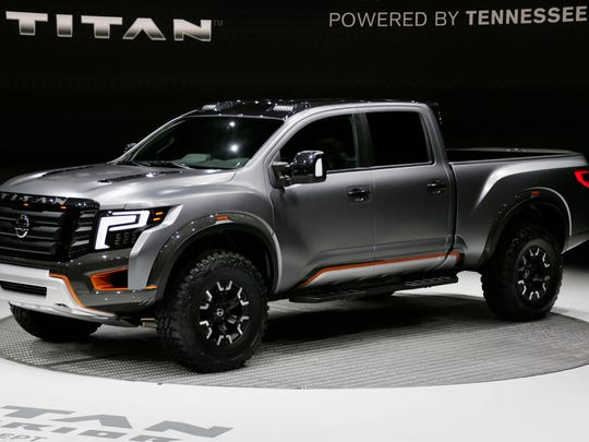 The Nissan Titan Warrior concept is revealed at the North American International Auto Show Tuesday Jan. 12, 2016 from Cobo Center. Mandi Wright/Detroit Free Press