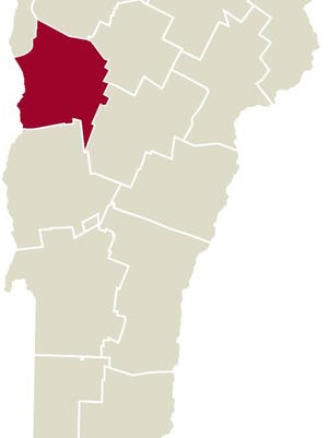 Chittenden County map