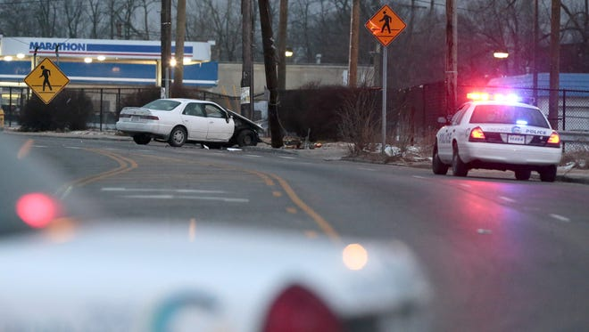 The Enquirer reviewed the driving records of Ohio's gubernatorial candidates to see which had the most crashes. Here, a file photo depicts a 2016 wreck in Cincinnati. The crash did not involve a gubernatorial candidate.