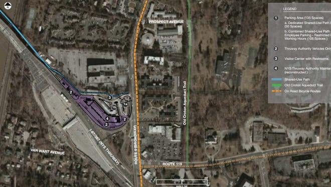 The new Tappan Zee Bridge shared-use path plan in Tarrytown. This plan is for both alternative E and F.