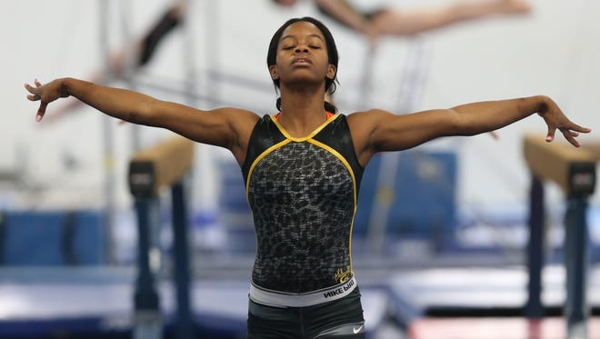 Olympic gold medalist Gabby Douglas has returned to the gym with sights on Rio 2016.