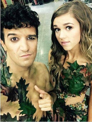 Sadie Robertson and Mark Ballas as Adam and Eve during Week 8 of Dancing with the Stars.