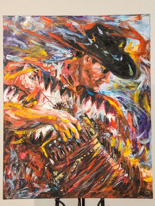 Susan Duke man with accordian (c) M.C. Rollo
