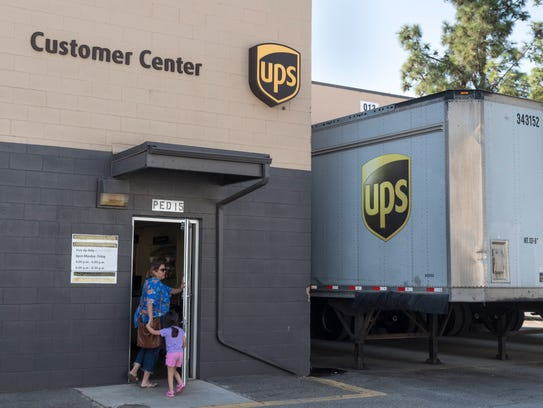 UPS has a customer center on West Goshen Avenue and