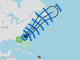 Projected path of Tropical Storm Chris.