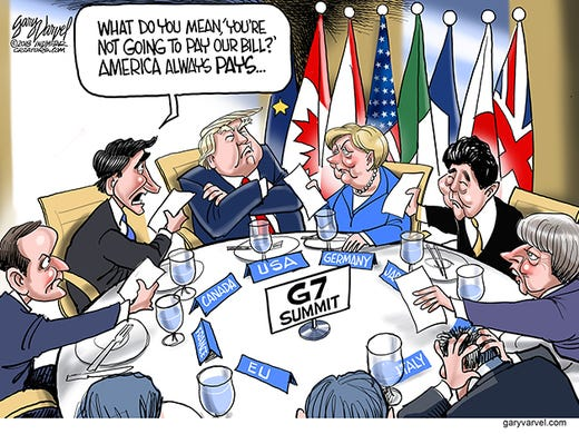 President Trumpâs trade policies have upset other G7
