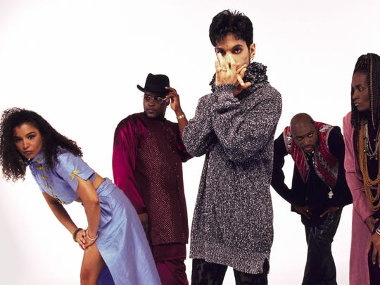 Prince and his band The New Power Generation, including