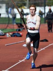 Jarod Forer of Glen Rock competes in the C pole vault