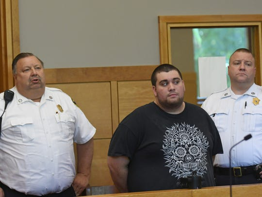 Nicholas Mandato is arraigned on a charge for the slaying