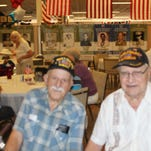 Those who attended on Satuirday include: left Joseph Funigiello WW II veteran, right John Raines WW II veteran, Purple Heart and French Legion of Honor Awards along with Dick and Kitty Ratcliff and other federation veterans.