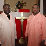 Jason S. Scott, left, deacon at Christ Missionary Baptist Church, and the Rev. Cory Rogers, pastor of Christ Missionary Baptist, are two of the speakers at the upcoming Eli Brown Men's Fellowship Conference. The event is planned for May 13-14 at the church.