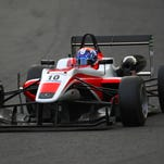 Santino Ferrucci of the Unites States drives during the British Formula Three Championship on Aug. 31 at Brands Hatch in Longfield, England.
