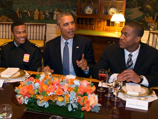 """President Obama hosts a lunch with """"My Brother's Keeper"""""""