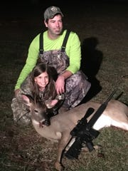 Oaklie DiFatta, 6, of Purvis, downed her first deer