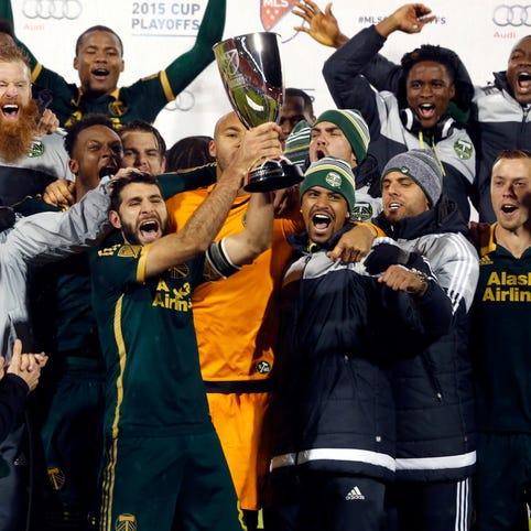 Portland celebrates its Western Conference championship.