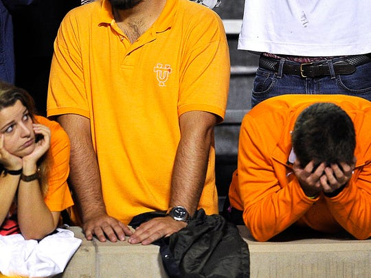 The end was almost too much for UT fans to bear as the Vols lost to Arkansas 24-20 on Saturday Oct. 3, 2015.