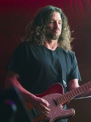 Primus guitarist Larry LaLonde performs at Monster