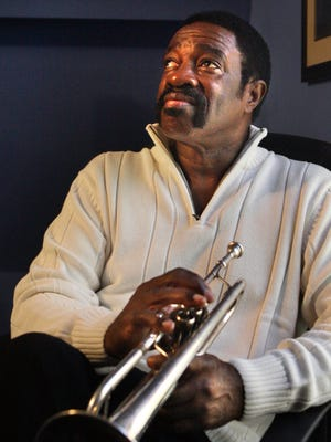 Ben Cauley, a member of the Stax Records group the Bar-Kays and the only survivor of the 1967 plane crash that killed most of his bandmates and Stax star Otis Redding, poses for a photo in his home studio in Memphis, Tenn. on Nov. 29, 2007.  Cauley died in Sept. 2015.