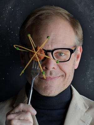 Alton Brown combines science, comedy, puppets and food when he performs at the Des Moines Civic Center on May 6, 2017.