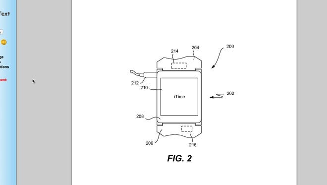 Apple's patent proposal for the iTime smartwatch.