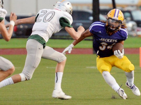 Byrd's Khoury Clark during their game against Calvary