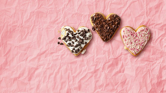 Dunkin' Donuts will have Valentine's-themed treats throughout February.