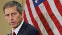 Acting VA Secretary Sloan Gibson helped brief President Obama on Friday on what needs to happen to improve medical care in the VA system.