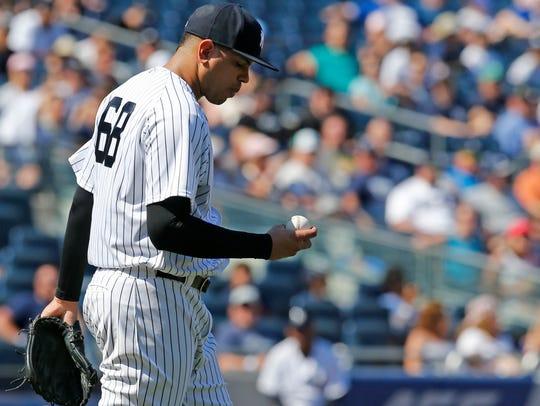 New York Yankees relief pitcher Dellin Betances (68)