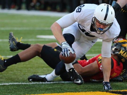 Penn State tight end Mike Gesicki runs for a touchdown