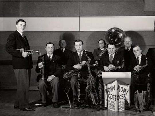 The Romy Gosz Polka Band, from left, Romy Gosz, Jim