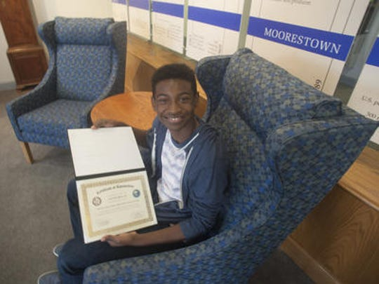 Moorestown Friends student Calvin Bell III recently visited the White House and U.S. Capitol Building after creating an app called Waste -- To -- Move, which will address environmental issues in urban areas.