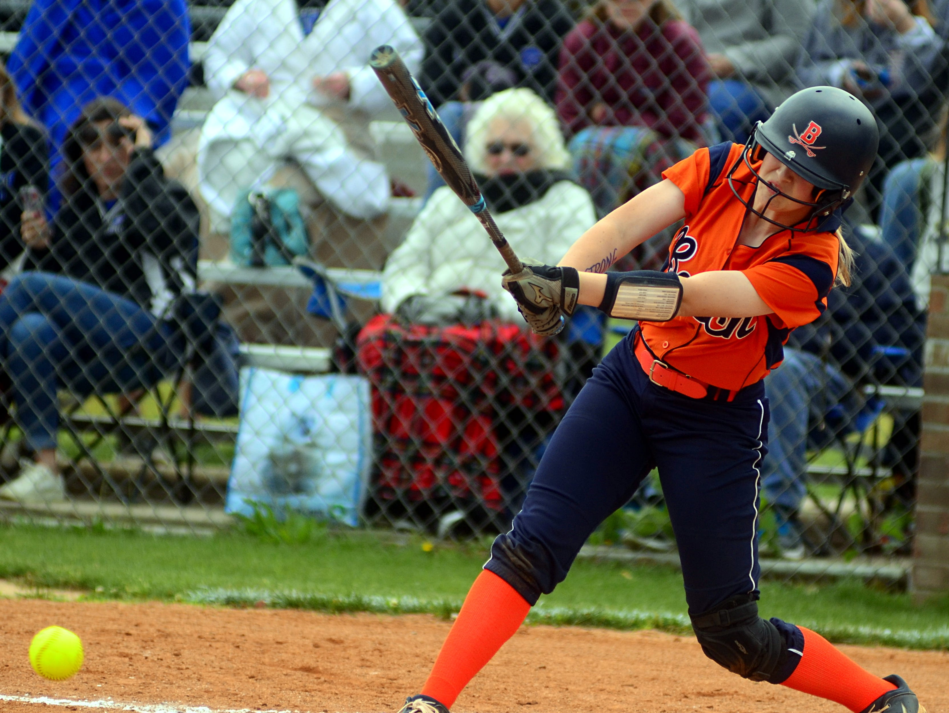 Beech High freshman Carly Sperlich produced two hits, including a double, in Saturday's 6-3 loss to Wilson Central in the District 9-AAA Tournament losers bracket final.