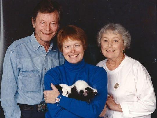 DeForest Kelley, Kris Smith, and Carolyn Kelley