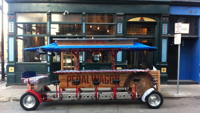 """The Pedal Wagon will get decked out for the holidays for """"Polar Bear Tours."""""""