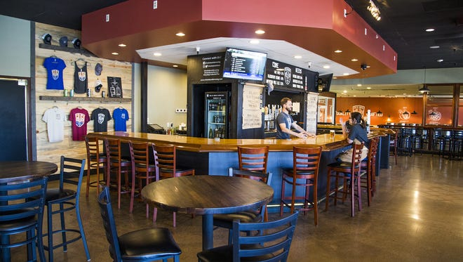 Interior of Helio Basin Brewing Co. in Phoenix, Thursday, May 31, 2018.