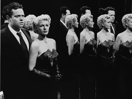 "Orson Welles and Rita Hayworth in  ""The Lady from Shanghai,"""