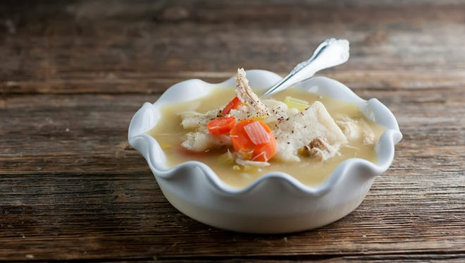 Chicken and Slippery Noodle Soup