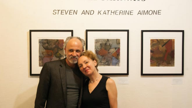 """Katherine and Steven Aimone's """"Shared Pathways"""" exhibit will be on display at the Fifth Avenue Art Gallery in Melbourne through Feb. 28. RIGHT: The duo will showcase their pieces, many of which were created while in Italy."""