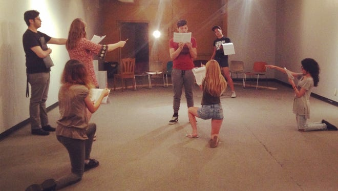 """Q1Go Productions players rehearse """"The Laramie Project."""""""