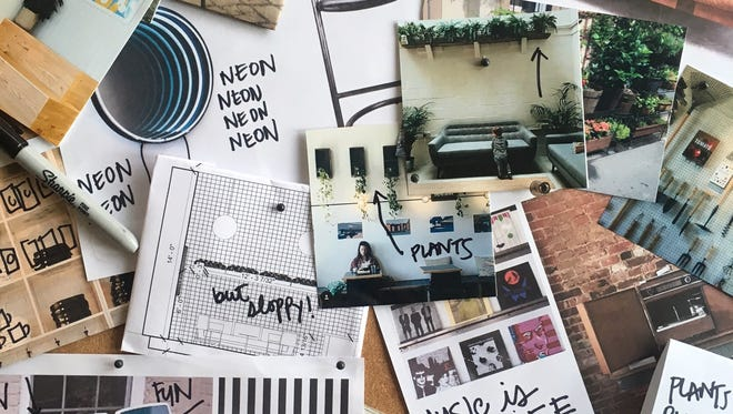 Brooke Vaughn's inspiration board for the new Please & Thank You.