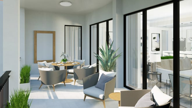 Modeled after the Phase I Ballard floor plan, Naples Square's Phase III Biltmore's terrace is 20 percent larger, measuring242 square feet.