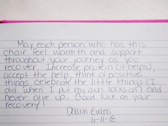 An entry in a journal that Danielle Stuffo and Danielle