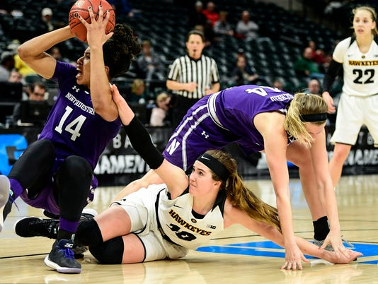 NCAA Womens Basketball: Big Ten Conference Tournament-Iowa vs Northwestern