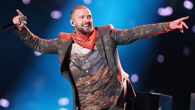Justin Timberlake performs onstage during the Pepsi Super Bowl LII Halftime Show at U.S. Bank Stadium on Feb. 4, 2018, in Minneapolis, Minn.