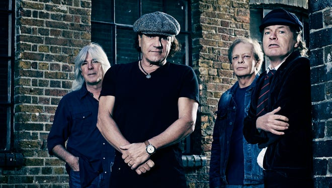 AC/DC - Cliff Williams (left), Brian Johnson, Stevie Young and Angus Young - are streaming new album 'Rock or Bust' on iTunes Radio in advance of its Dec. 2 release.